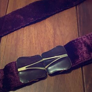 Accessories - Vintage purple velvet belt